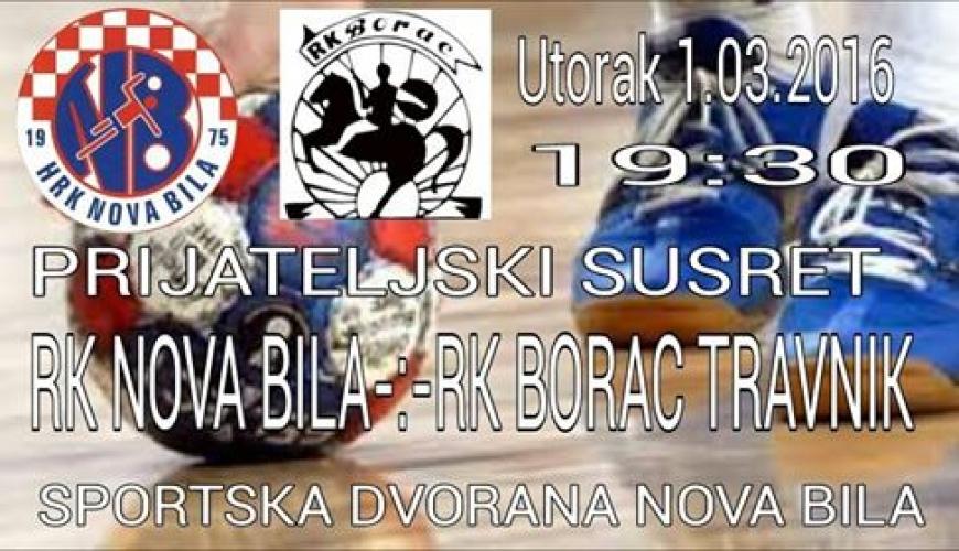 Prijateljski susret: RK Nova Bila - RK Borac Travnik