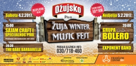 Drugi Žuja Winter Music Fest – sajam craft piva i nastup grupe Bolero!